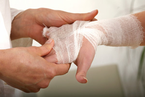 Eccles Clinic Bandaged Hand